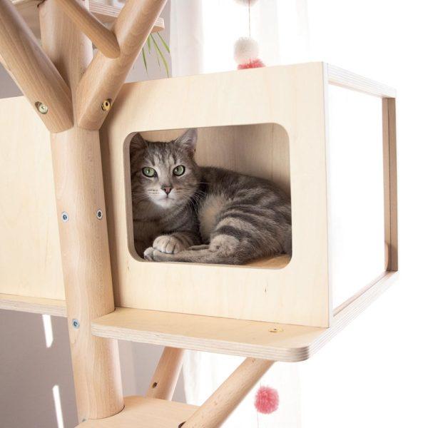 Maisonnette de l'arbre à chat scandinave Eden & Mitaine