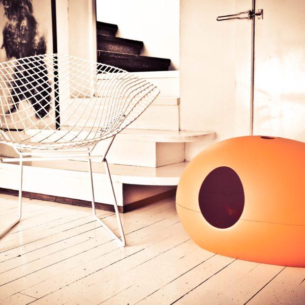 Litière design orange
