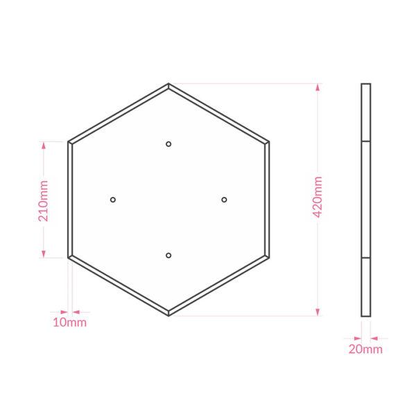 Dimensions du griffoir Hexon