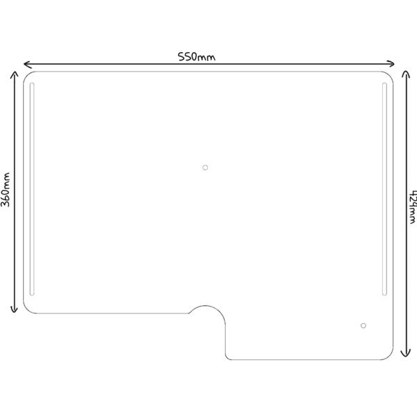 Dimensions des plateformes