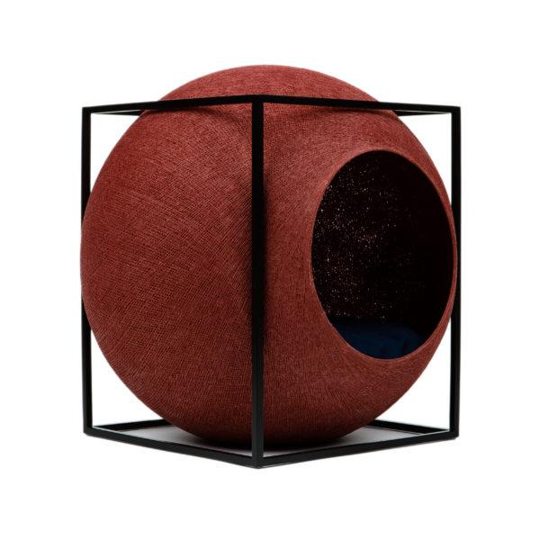 Le cube métal, couchage design pour chat - Argile