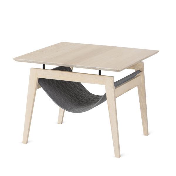 Table à café avec hamac pour chat couleur gris anthracite