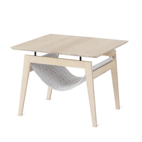 Table à café avec hamac pour chat couleur gris clair