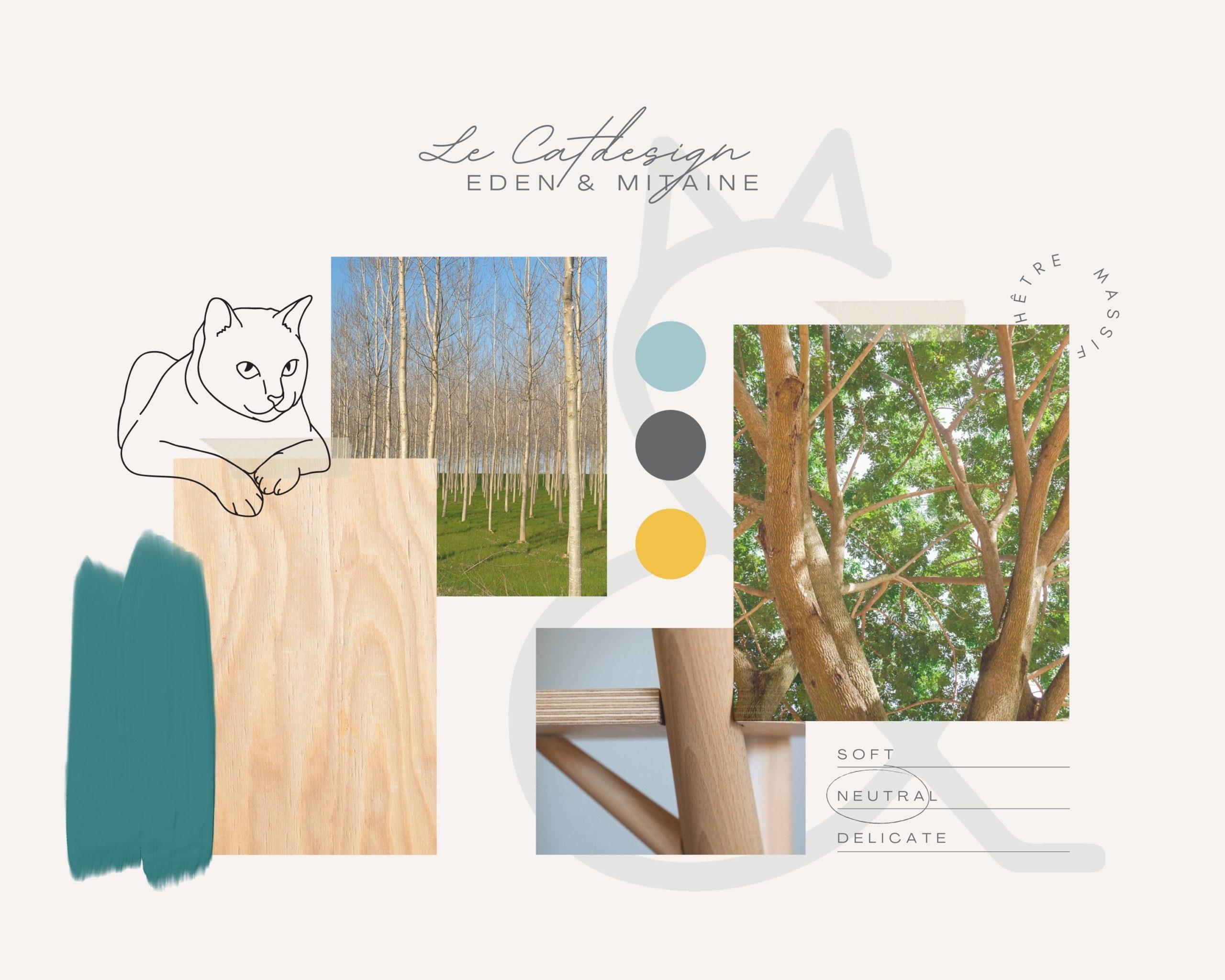 Moodboard arbre à chat scandinave - Eden & Mitaine