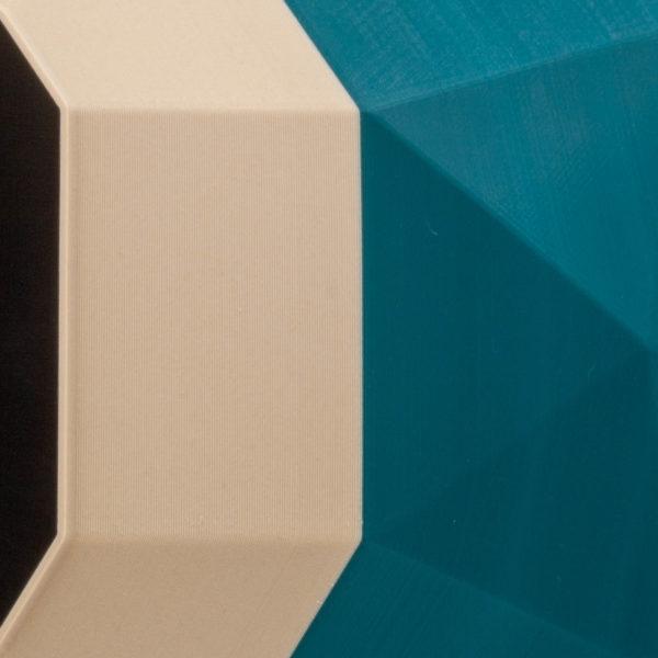 Gros plan sur l'impression 3D de la niche pour chat TAO Jungle