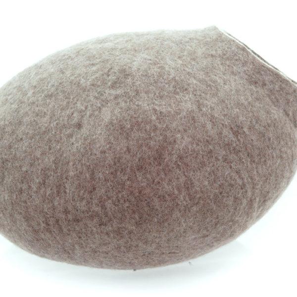 Grotte en feutre de laine sable