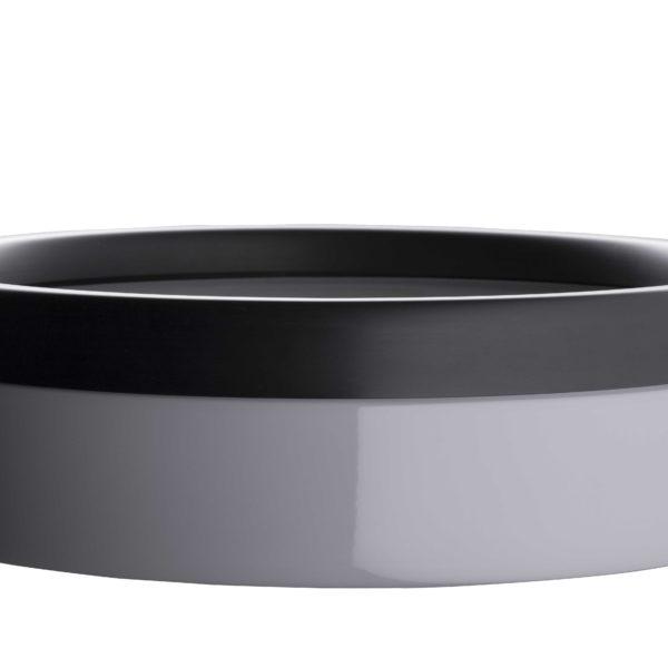 Litière ouverte en céramique grise et noire
